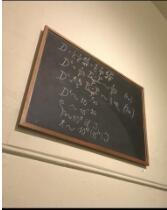 爱因斯坦给牛津学子 授课时写的板书